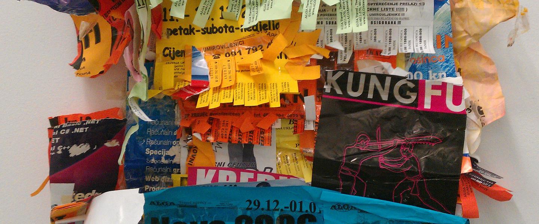 Aangeplakte zooi, het stedelijk notitieblok
